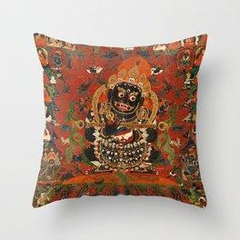 Vajrabhairava Buddhist God of Death 5 Throw Pillow