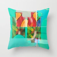 pool Throw Pillows featuring POOL by  ECOLARTE