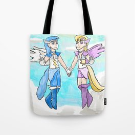 Magical Bronie Boys Lightning Bolt And Cloud Kicker Tote Bag