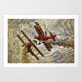 134  Breitling Wingwalkers Art Print
