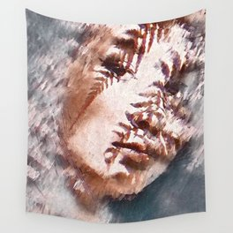 Girl Face Wall Tapestry