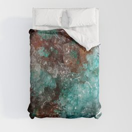 Dark Rust & Teal Quartz Comforters