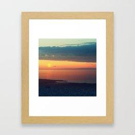 Pillar over Fundy Framed Art Print