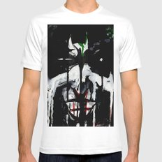 Why so serious? MEDIUM White Mens Fitted Tee