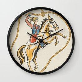 Ride 'em Cowgirl! Wall Clock