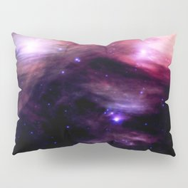 Galaxy : Pleiades Star Cluster nebUlA Purple Pink Pillow Sham