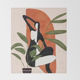 Abstract Female Figure 20 Throw Blanket