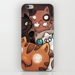 Silly cats iPhone Skin