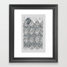 argyle stone age Framed Art Print