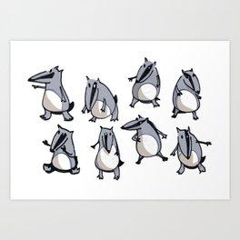 Lots of Badger Bills Art Print