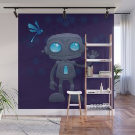 Waving Robot Wall Mural