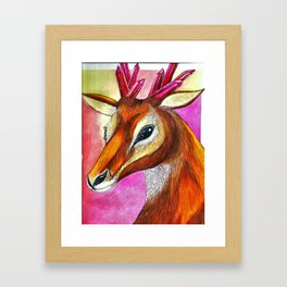 Ruby Antelope Framed Art Print