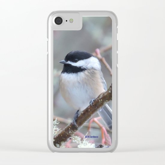 Chickadee in the Alder Tree Clear iPhone Case