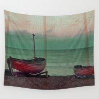 sailboat Wall Tapestries featuring Sailboat by Regan's World