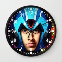 megaman Wall Clocks featuring Megaman wolowitz by seb mcnulty