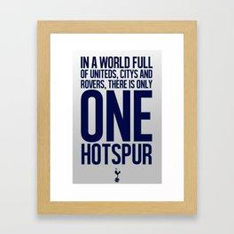 Tottenham Hotspur Framed Art Print