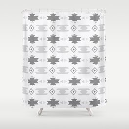 Southwestern Pattern Gray Cream Shower Curtain
