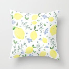 Fresh Lemon Serenade Throw Pillow