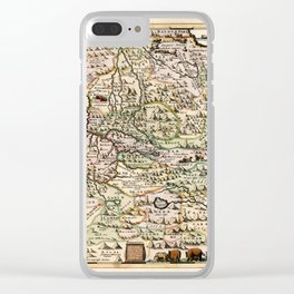 Map Of Ethiopia 1683 Clear iPhone Case