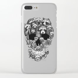 Skull from raccoons Clear iPhone Case
