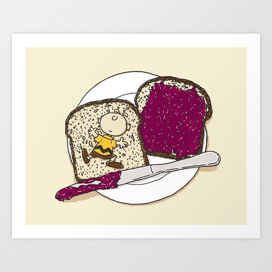 Peanut butter & Jelly Art Print
