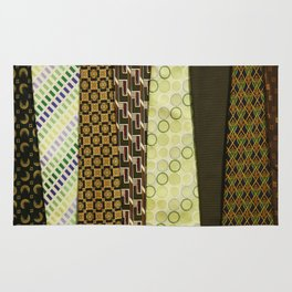 Load of Ties - Green 1 Rug