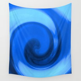 Blue tie dye Wall Tapestry