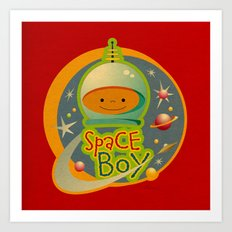 SPACE BOY Art Print