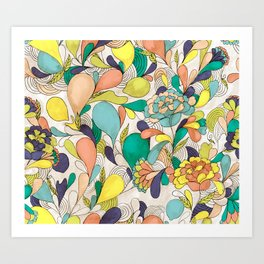 Balloons in bloom Art Print