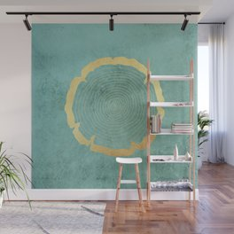 Gold Foil Tree Ring Wall Mural