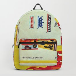 1969 Hot Wheels Redline Toy Cars Shell Gas Station Promotional Poster Backpack