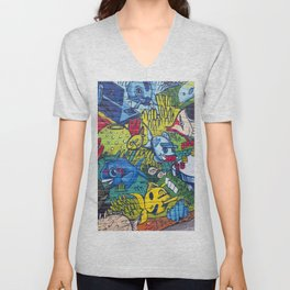 Graffiti Town Unisex V-Neck