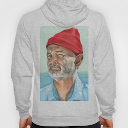 Steve Zissou Bill Murray Painted Portrait Hoody