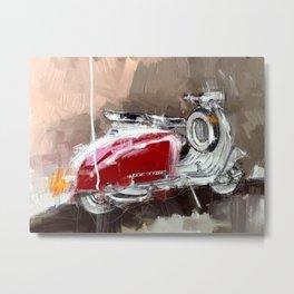 Red Lambretta Metal Print