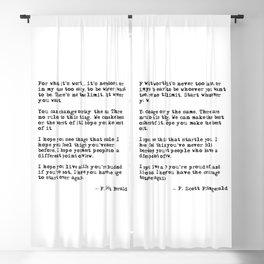 For what it's worth - F Scott Fitzgerald quote Blackout Curtain
