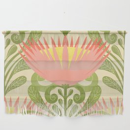 King Protea Flower Pattern - yellow Wall Hanging