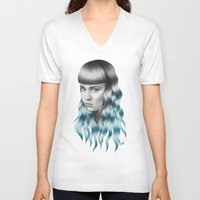 grimes V-neck T-shirts featuring Grimes by Nestor