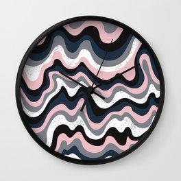 Dream Pink Abstract Wall Clock