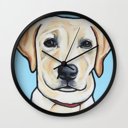 Portrait of Lab Puppy Wall Clock