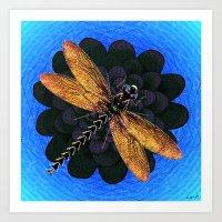 Dragonfly Snookum Art Print