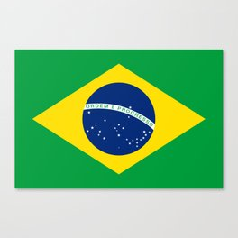 Flag of Brazil - Hi Quality Authentic version Canvas Print