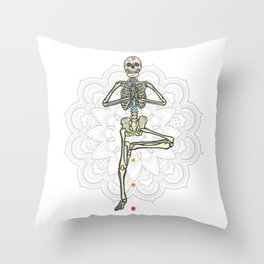 Yoga skeleton Best Gift Throw Pillow