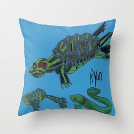 Turtle's Buddies Throw Pillow