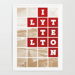 I Love Lyttelton Kraft Poster