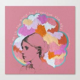 Dissolve the sky Canvas Print