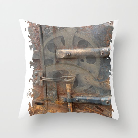 Rusty Stuff Montage Throw Pillow