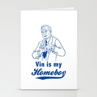 dodgers Stationery Cards featuring Vin is my homeboy by GOGILAND