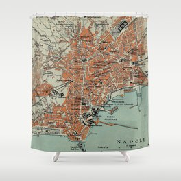 Vintage Map of Naples Italy (1911) Shower Curtain