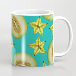 Starfruit Honey Melon pattern Design turquoise Coffee Mug