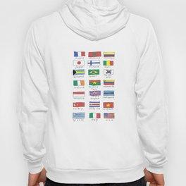 World traveler flags Hoody